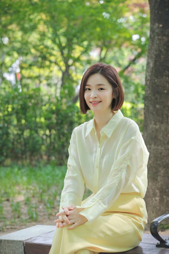 tvN 목요극 '슬기로운 의사생활'에서 채송화를 연기한 배우 전미도