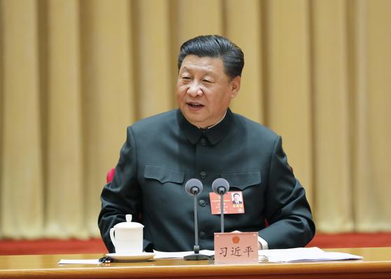26일 중국 베이징에서 열린 정협 회의에 참석한 시진핑 중국 국가주석.[신화=연합뉴스]