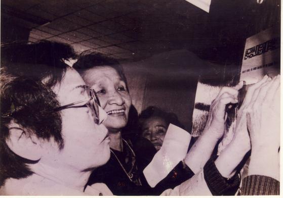 37개 여성단체의 결의로 정대협이 발족했습니다. 이화여대 교수를 지낸 윤정옥ㆍ이효재 선생과 박순금 한국교회여성연합회장이 공동대표를 맡았습니다. [사진 정의기억연대]