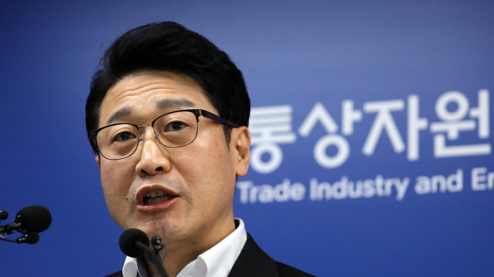 이호현 산업통상자원부 무역정책관이 지난달 12일 정부세종청사 산자부 기자실에서 '일본 수출규제 관련 대응현황 및 향후계획' 브리핑을 하고 있다. 뉴스1
