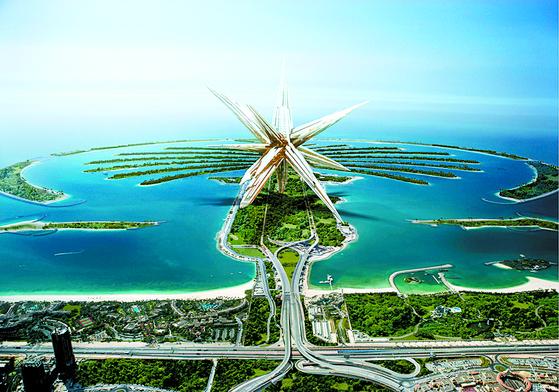 중국 건축가 그룹 MAD가 구상한 '수퍼스타', 별 모양 도시가 전 세계를 여행한다.