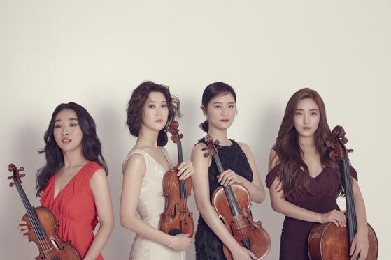 9일 진은숙을 연주하는 에스메 콰르텟. 왼쪽부터 배원희, 하유나, 김지원, 허예은. [사진 크레디아]