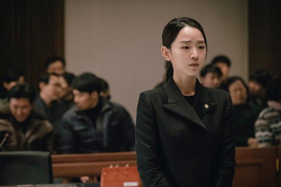 배우 신혜선이 11일 개봉하는 영화 '결백'으로 첫 스크린 주연에 도전했다. [사진 키다리이엔티]