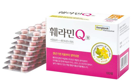 훼라민큐(Q)는 생약복합제로 여성 갱년기의 신체적·심리적 증상을 개선해 준다. [사진 동국제약]