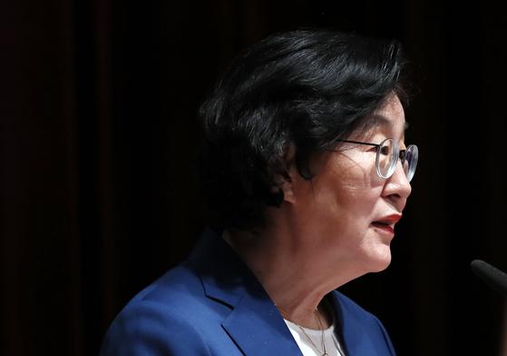 개회사하는 이정옥 장관. 연합뉴스