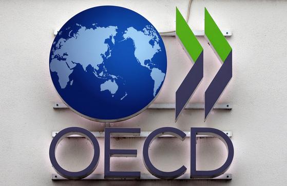경제협력개발기구(OECD) 간판. 연합뉴스