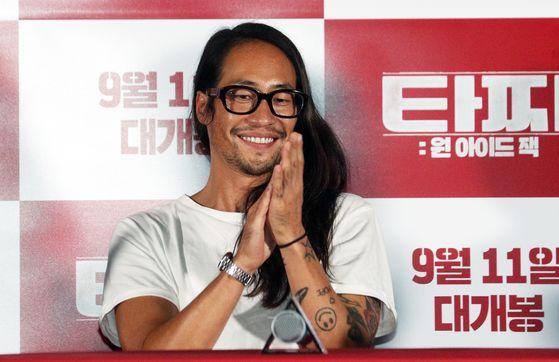 작년 8월 영화 '타짜:원 아이드 잭' 시사회에서 배우 류승범. 뉴스1