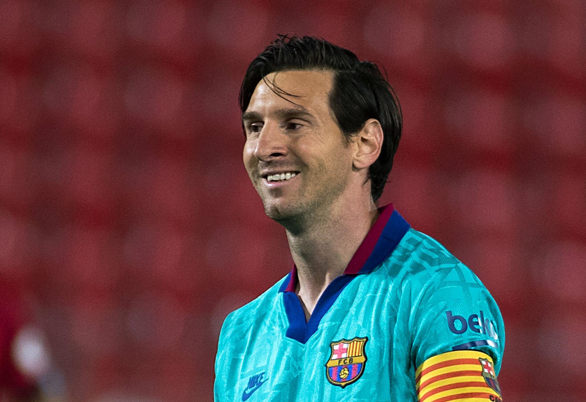14일 마요르카전에서 1골 2도움을 올려 대승을 이끈 바르셀로나 메시. [AFP=연합뉴스]