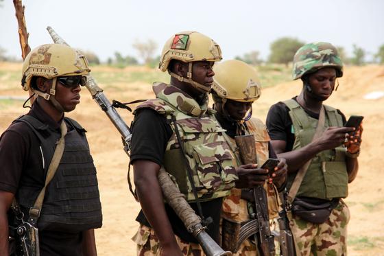 나이지리아 군인. AFP=연합뉴스