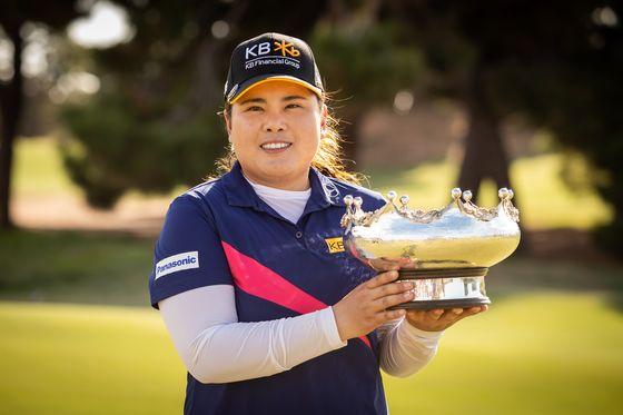 지난 2월 LPGA 투어 호주여자오픈에서 우승한 박인비. [사진 Golf Australia]