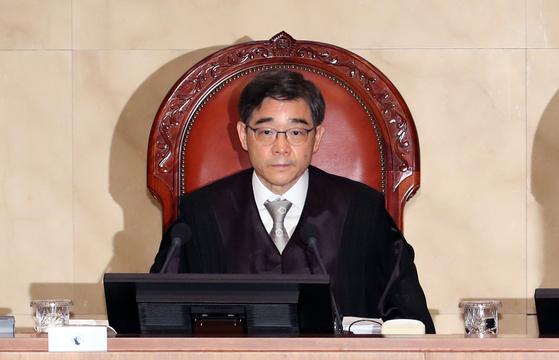 이 판결 반대의견에 섰던 권순일 대법관의 모습. [연합뉴스]