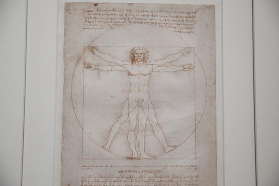 레오나르도 다빈치가 그린 인체 비례도 비트루비안 맨. [로이터=연합뉴스]
