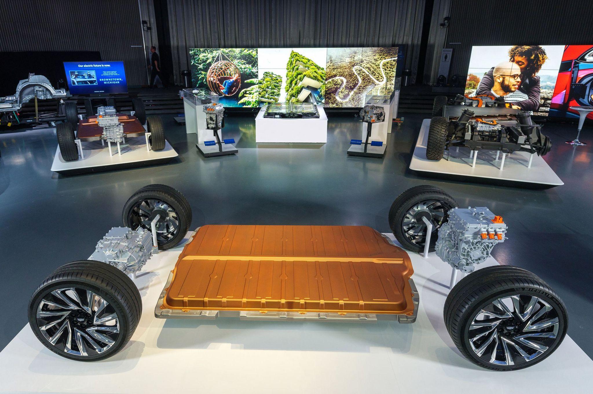 GM의 전기차 배터리 플랫폼 '얼티움'. 사진 GM