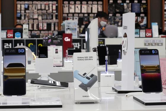 서울 시내 스마트폰 매장