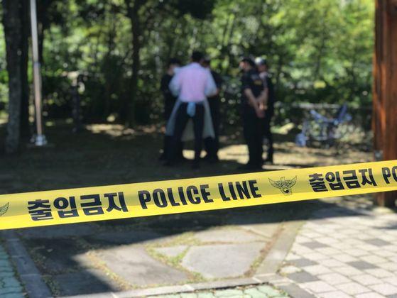 22일 오전 제주도 인재개발원에서 20대 여성 자가격리자가 사망한채 발견됐다. 최충일 기자