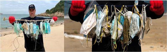 홍콩 앞바다를 오염시킨 마스크(논문에 게재된 오션스아시아 사진)