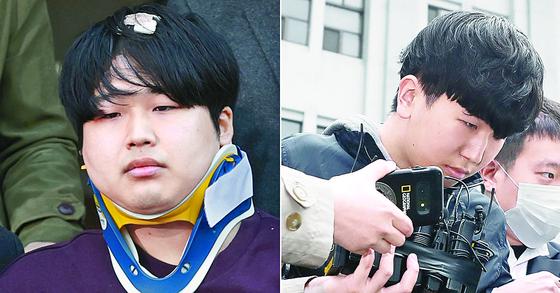 n번방 사건의 주범인 '박사' 조주빈(왼쪽)과 공범 '부따' 강훈. 뉴스1