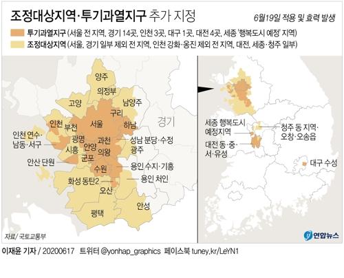 조정대상지역·투기과열지구 추가 지정 [연합뉴스]