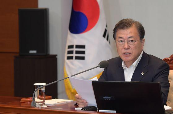 문재인 대통령이 22일 청와대에서 열린 제6차 공정사회 반부패정책 협의회에서 발언하고 있다. 청와대사진기자단