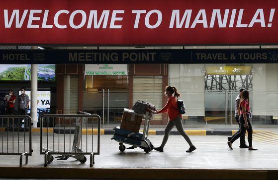필리핀 마닐라 국제공항. AP=연합뉴스