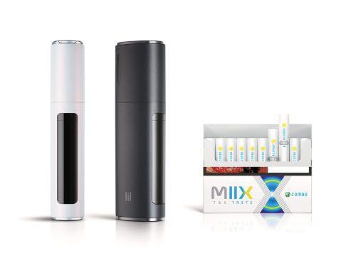 KT&G만의 독자 기술이 집약된 궐련형 전자담배 '릴 하이브리드 2.0'(왼쪽)과 24일 전국에 출시되는 릴 하이브리드 전용스틱 신제품인 '믹스콤보'. [사진 KT&G]
