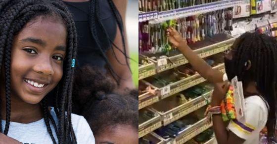 '우정팔찌' 판매수익금을 미니애폴리스 흑인사회에 기부하자고 제안한 캠린 존슨. 오른쪽 사진은 우정팔찌를 만들기 위해 실을 고르고 있는 모습. [고펀드미, 론 존슨 트위터 @3RonJohnson캡처]