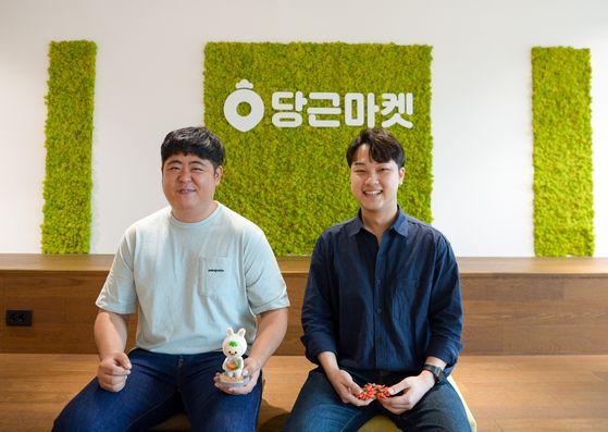 당근마켓에서 고객대응을 맡고 있는 최현수(왼쪽) 매니저와 권순우(오른쪽) 매니저. 정원엽 기자