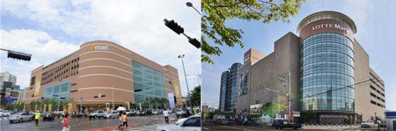이마트(왼쪽)와 롯데마트. 사진 각 업체