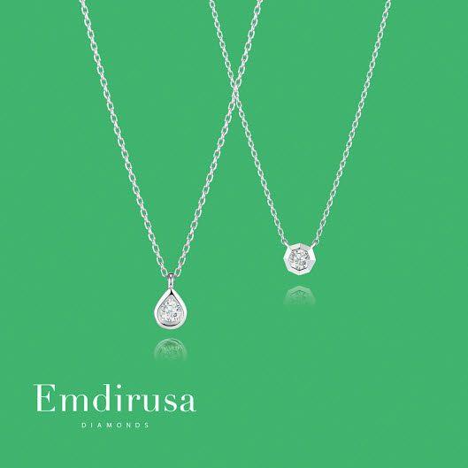 0.23캐럿 다이아몬드 특가 목걸이.