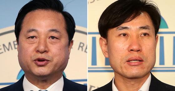 김두관 더불어민주당 의원(왼쪽)과 하태경 미래통합당 의원. 연합뉴스·뉴스1