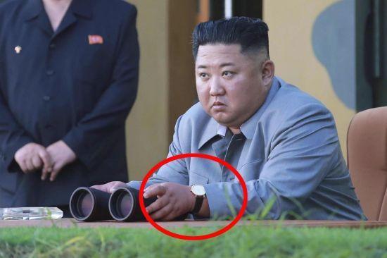 지난해 7월 25일 단거리 탄도미사일 발사 참관 때 김정은 북한 국무위원장이 차고 있던 손목시계는 1000만원이 훌쩍 넘는 스위스산 제품으로 알려졌다. 연합뉴스