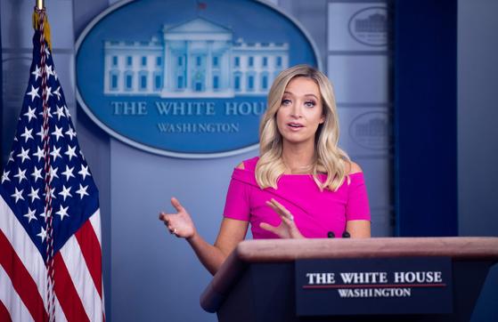 백악관 대변인 케일리 맥커내니. AFP=연합뉴스