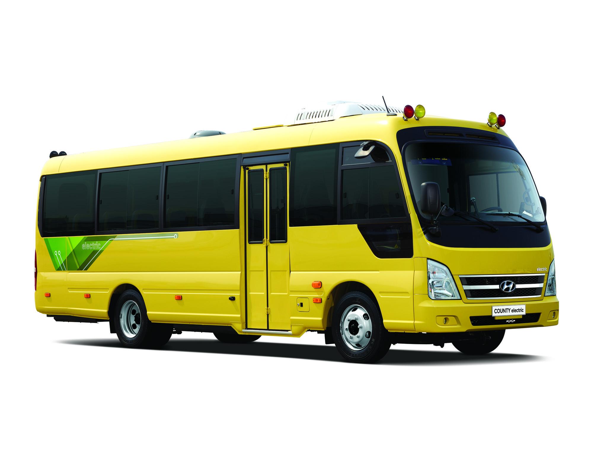 29일 현대차가 선보인 국산 최초의 중형 전기버스 '카운티 일렉트릭.' 사진 현대차
