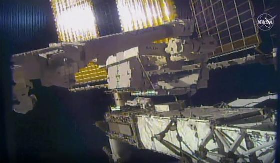 지난 6월 26일 국제 우주정거장에서 촬영된 사진. [AP=연합뉴스]