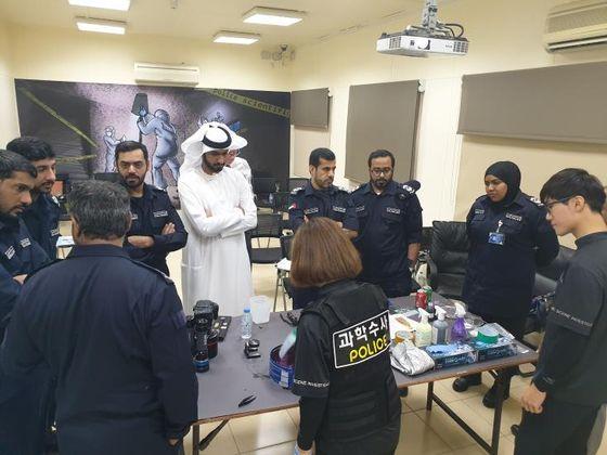 UAE 경찰에 지문 감식 기법 교육하는 모습. 경찰청 제공=연합뉴스