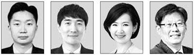 김태훈, 김장석, 김연주, 정상윤(왼쪽부터)