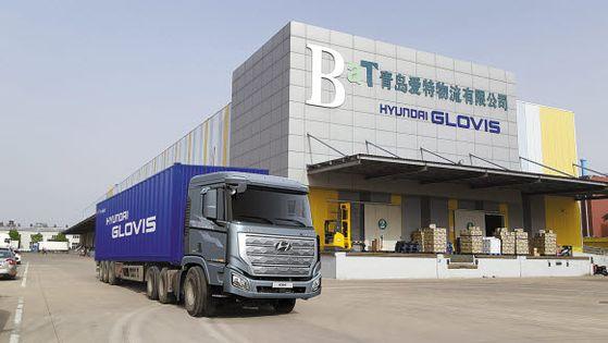 현대글로비스는 한국 농식품을 내세워 중국 콜드체인 시장을 공략하고 있다. 한국농수산식품유통공사가 설립한 중국 칭다오 한국농수산식품 물류센터 전경. [사진 현대글로비스]