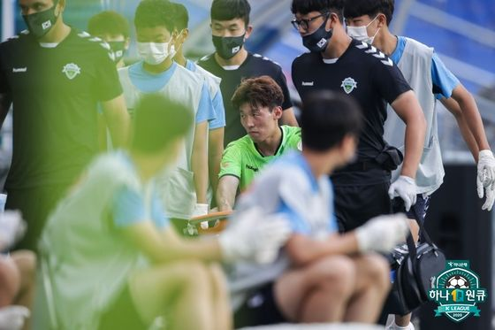 왼쪽 발목인대 부상으로 최대 6주간 전력에서 이탈하게 된 김보경. 한국프로축구연맹