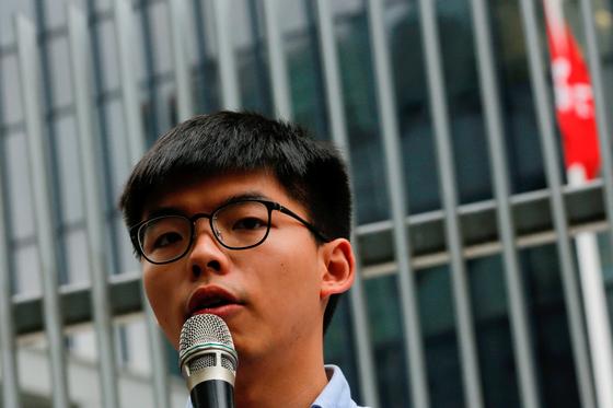 홍콩 우산혁명 주역 조슈아 웡 탈당…보안법 통과에 민주파 기로