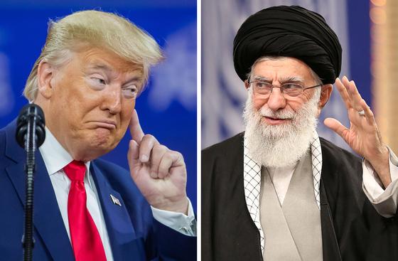 도널드 트럼프 미국 대통령(왼쪽)과 이란 최고지도자 알리 호세인 하메네이. EPA=연합뉴스
