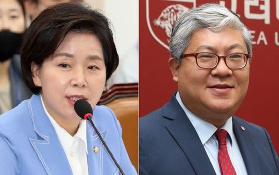 양향자 더불어민주당 의원(왼쪽). 이한상 교려대 경영대 교수. 뉴스1, 중앙포토