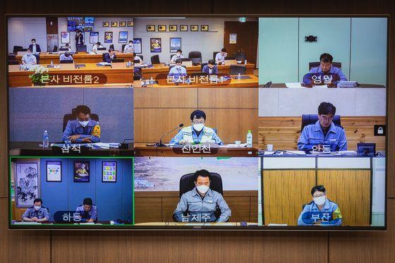[한국남부발전은 발전운영부서장 화상회의를 통해 여름철 안정적 전력수급에 대한 대책을 논의했다.]