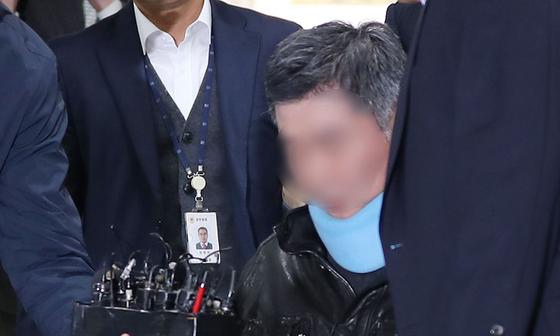 2019년 구속영장심사에 출석한 조국 전 법무부 장관의 동생 조모(53)씨. [연합뉴스]