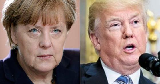 앙겔라 메르켈 독일 총리(왼쪽)과 도널드 트럼프 미국 대통령(오른쪽) [AP, EPA=연합뉴스]