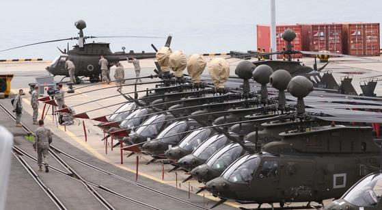 미 육군 공격정찰헬기. 이 사진은 기사 내용과 직접적인 관련 없음. 중앙포토