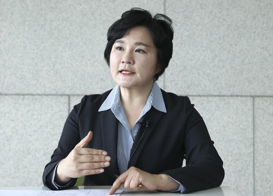 조수진 미래통합당 의원이 지난 5월 14일 오전 국회 의원회관에서 중앙일보와 인터뷰하고 있다. 임현동 기자