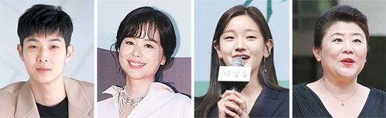 최우식, 장혜진, 박소담, 이정은(왼쪽부터).