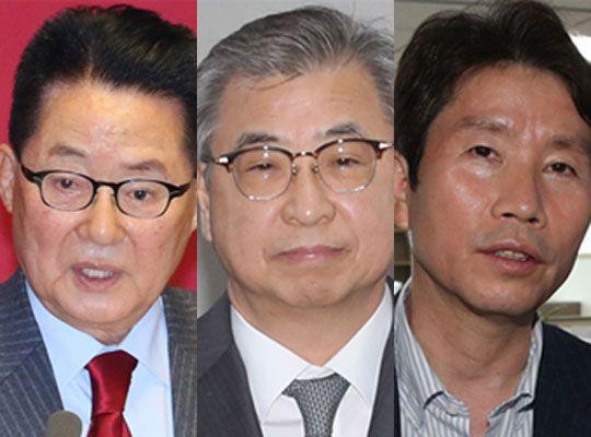왼쪽부터 박지원, 서훈, 이인영. 중앙포토