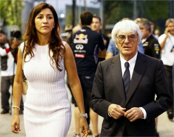 지난 2014년 버니 에클레스톤 전 F1 회장과 그의 부인 파비아나 플로시 모습. 연합뉴스