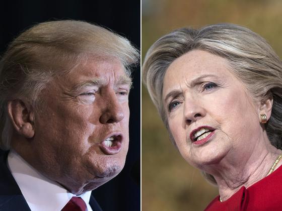 도널드 트럼프 미국 대통령(왼쪽)과 힐러리 클린턴 전 미 국무장관. [AFP=연합뉴스]